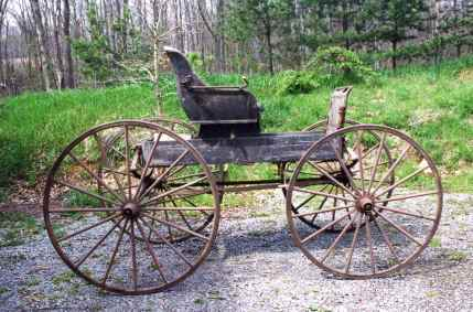 Before. Horse drawn doctor's cart from 1890's.